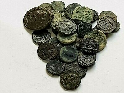 Superb Fantastic Lot Of 30 Ancient Roman Bronze Coins Unsearch Very Interest
