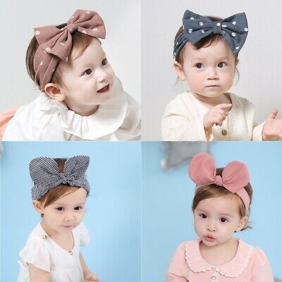 Baby Headband Bow Turban Knotted Girl's Hair Band for Newborn Toddler Childrens