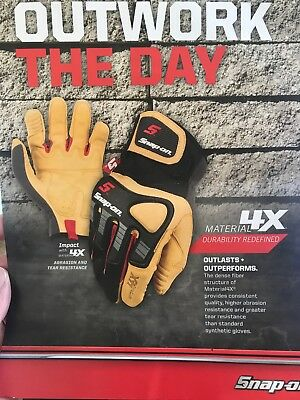 Snap On Impact 4x Gloves Abrasion And Tear Resistance In XLarge NEW