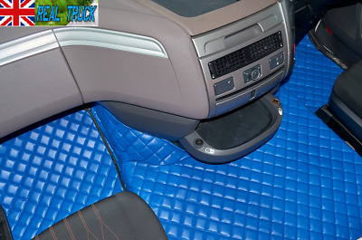 Truck Eco Leather Floor  Set  Fit Daf Xf 106 Automatic - Blue - After 67 Plate