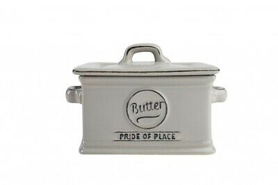 Pride of Place Range Ceramic Butter Dish in Cool Grey By T&G Woodware