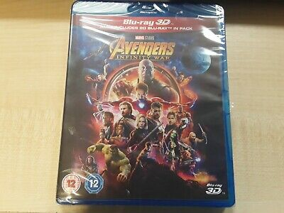 Avengers Infinity War 3D And 2D Blu Ray! New And Sealed, Free Uk P&p!