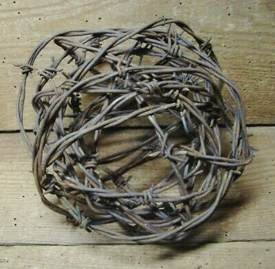 Large Ball of Rusty Wire #17 < Farm Fresh > 12+ ft.