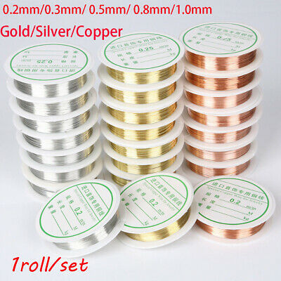 Diy  gold plated Alloy Beads copper wire Necklace Jewelry Making Cord String