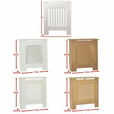 Radiator Cover Traditional Modern Wood Grill Heat Guard Unfinished White Small