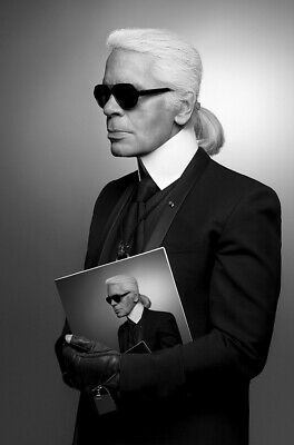 KARL LAGERFELD of Chanel and Fendi photograph - quality A4 glossy picture