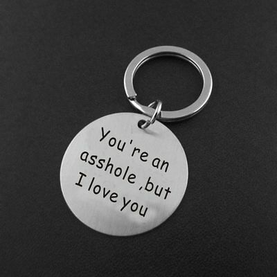 Stainless Steel Keyring Funny Keychain for Boyfriend Husband Valentine's Gifts