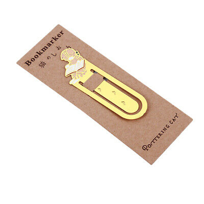 Special Yellow Pet Cat Book Mark Metal Bookmark Book School Office Stationery N7
