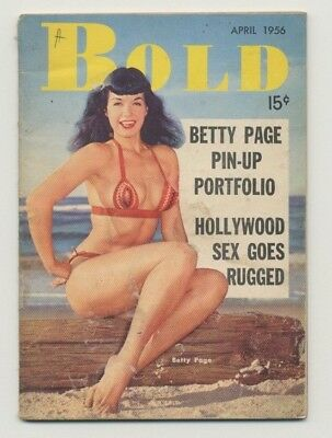 Bold Vol. 4 No. 4 April 1956 Betty Bettie Page Pin-up William Lindsey Gresham