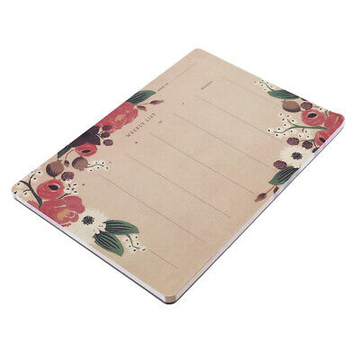 Weekly Planner Meal List To Do Shopping Desk Note Pad Home Office Plan LH