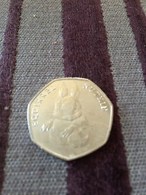 BEATRIX POTTER 50p coin, 2016  SQUIRREL NUTKIN  Uncirculated, From Sealed Bag