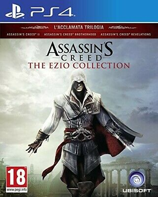 ASSASSIN'S CREED per SONY PS4 PLAY STATION 4 THE EZIO COLLECTION ITALIANO MULTIL