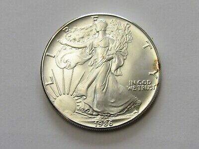 1986 American Silver Eagle first year