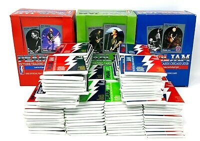2018 Pearl Jam Seattle Chicago Boston Trading Cards Full Boxes 144 Packs