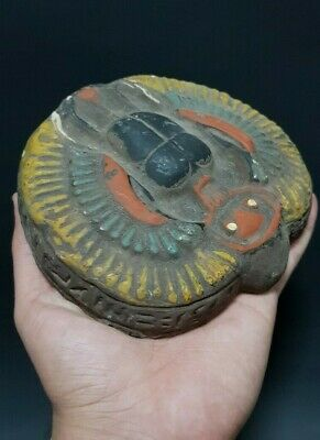 ANCIENT EGYPTIAN ANTIQUES Egypt Scarab Beetle Scarabs Rare EGYPT Stone 600 BC
