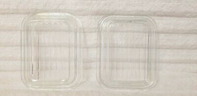Two Pyrex #501-C Clear Glass Lids That Fit The Small #501 Dish Excellent