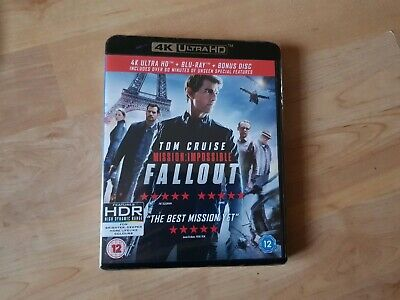 Mission Impossible Fallout 4k blu ray HDR  Factory Sealed 3 Disks