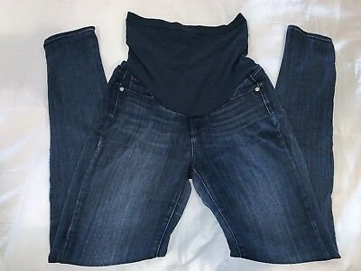 d21a84d2cf509 Paige women Maternity dark blue Jeans P Collection Verdugo Ultra Skinny  size 27