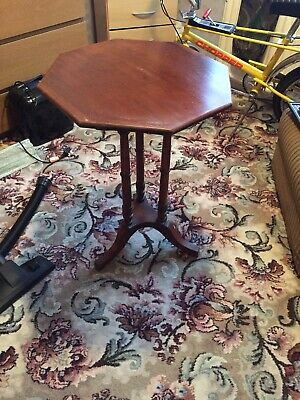 Antique Octagonal Tilting Occasional Table
