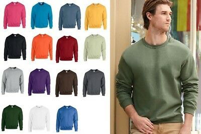 Mens Sweathsirt Gildan Heavy Blend Adult Crew Neck Jumper Top Sweat GD056