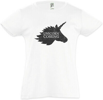 Unicorn Is Coming Kids Girls T-Shirt Game Of Fun Unicorns Stark Winter Thrones