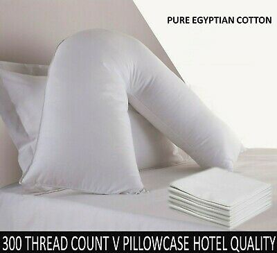 100% Egyptian Cotton 300 Thread Count V Shaped Pillow Case Orthopedic Cover