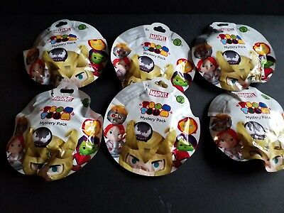 Disney Marvel Tsum Tsum Series 2 Mystery Stack Pack lot of 6!
