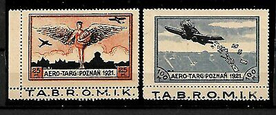 Poland Stamps 1921, Air Mail.  Mng