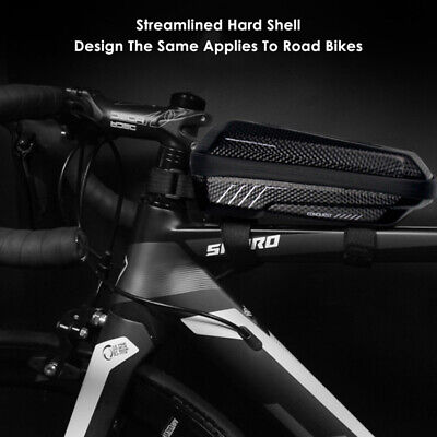 Front Tube Bicycle Bag Bike Pouch Case Waterproof Top Storage Frame Bags Black