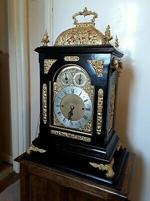 RARE triple fusee clock on 9 bells 1840