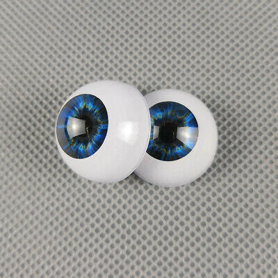 20mm Half Round Acrylic Eyes For OOAK BJD Dolls Handmade Reborn Baby Dolls Eyes