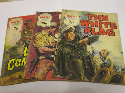 3 x BATTLE PICTURE LIBRARY COMIC   1974 / 1976