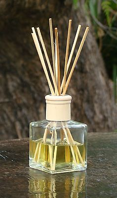 DAFFODILS Gentle Floral Scent Diffuser Aroma Rattan Reeds in a Square Glass Jar