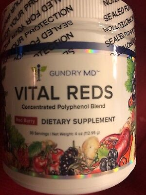 Vital Reds Concentrated Polyphenol Blend Red Berry Flavor 30 serving Gundry MD