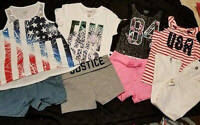 NWT/NWOT GIRLS 8PC SPRING/SUMMER LOT SZ 6/6x/7 - JUSTICE - GYMBOREE 4th of July