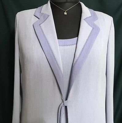 Lilac Dress And Coat By In Vite By Ronald Joyce. Well Made, Very Smart Size 16