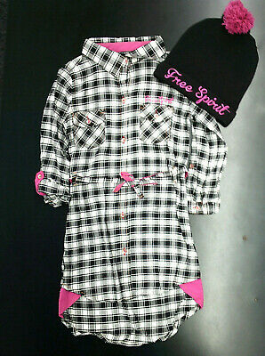 Girls Limited Too Black & White Checked Dress W/T Cap $45 Sizes 4 - 6X