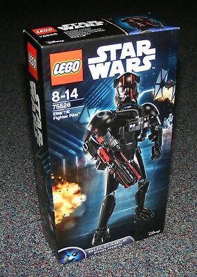 Star Wars Lego 75526 Elite Tie Fighter Pilot Buildable Figure Brand New Sealed