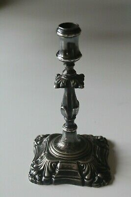 Miniature Silver Plated Candlestick by Mappin Brothers. c1880