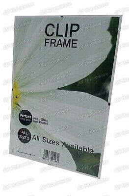 *A0, A1, A2, A3, A4, A5, A6 Photo Picture Art Clip Frame Perspex Glass All Sizes