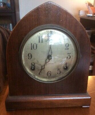 Sessions Mantel Clock With Pendulum Chimes Antique