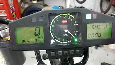 Aprilia Rs 250 Mk2 Clocks Dash Speedo 1998 2003 9100kms. 5654miles