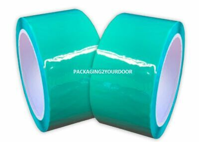 Green Packing Tape Roll length 66 Meters Tape width 50mm