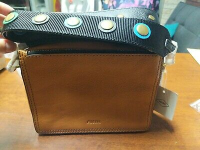 Fossil Campbell Studded Guitar-Strap Crossbody NWT $148.00