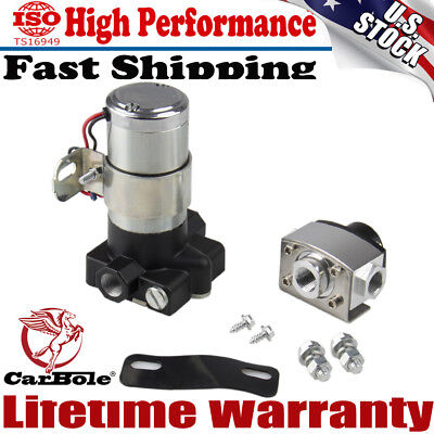 High Performance Electric Fuel Pump 105 gph 14psi High Volume Transfer US Stock