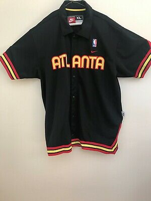718ff4146 Nike Mens Atlanta Hawks Warm Up Shooting Jersey Shirt XL Black Basketball  NBA
