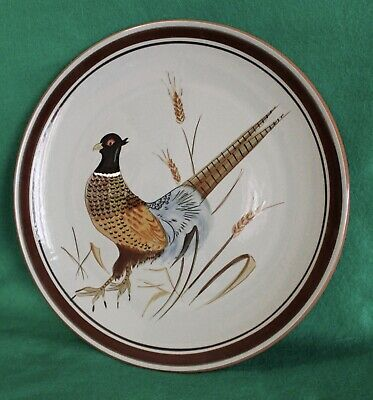 """Stangl Pheasant Large 11"""" Plate"""