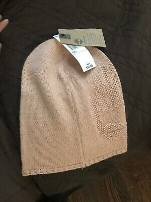NWT Authentic Womens TIMBERLAND Blush Pink Knit Beanie Winter Hat w  Logo  rp  45 05880ce681b