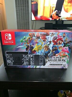 Nintendo Switch Super Smash Bros Ultimate Bundle BOX ONLY - NO Console - READ
