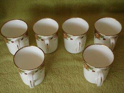 Royal Albert Old Country Roses - Set of 6 Tall Mugs - 1st Quality, New & Unused
